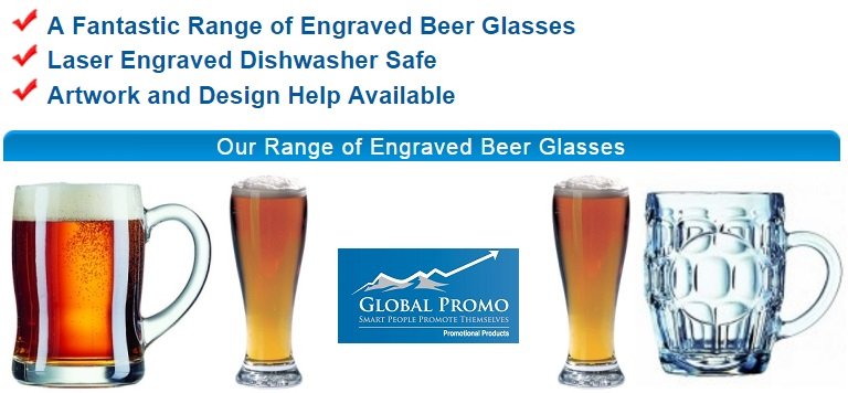 Promotional Engraved Glassware - Global Promo